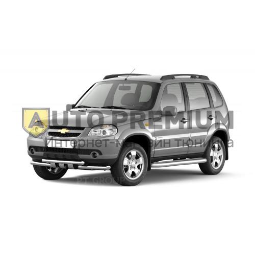 Рейлинги «Комфорт» на Chevrolet NIVA с 2002 (Черный муар)